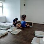 Montáž nábytku v plném proudu
