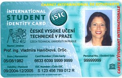 International Student Identity Card with the CTU logo